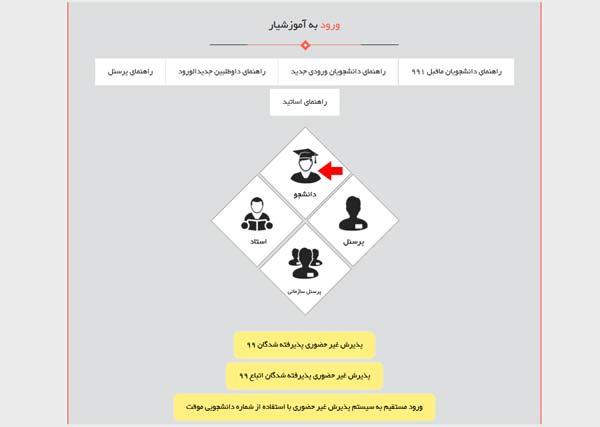 مرحله اول سامانه آموزشیار دانشگاه آزاد